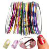 New Fashion Nail Art Decoration Sticker Mixed Colors Rolls Nail Strip Tape Line (Color: Multicolor) - AS THE PICTURE