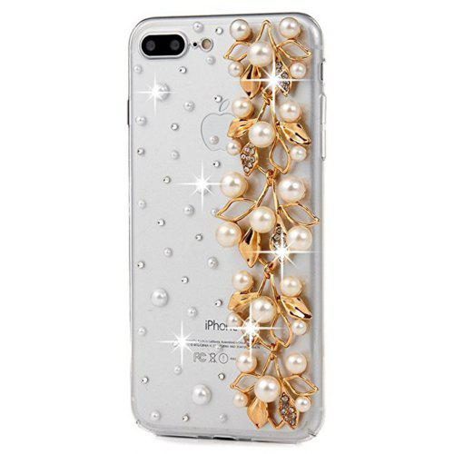 8802ddfdb22 For iPhone 7 Plus Case 3D Handmade Bling Golden Diamond Bow with Ribbons  with Shiny Sparkle Rhinestone Gems Crystal Cle