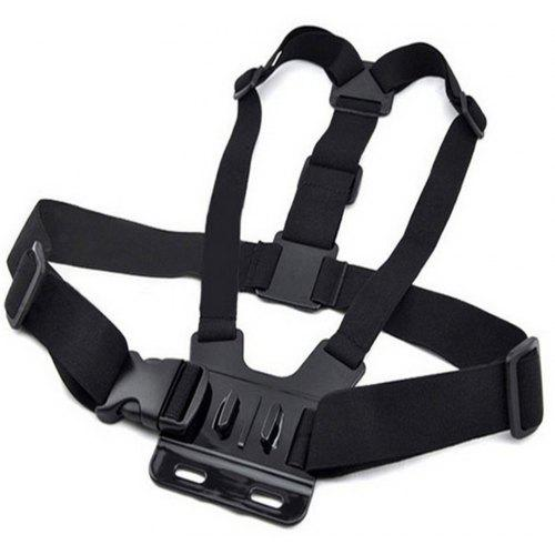 Photography Chest Mount Harness Strap,Portable Adjustable Video Camera Double Shoulder Chest Supports Belt Harness Bracket Adapter Shooting Stabilizer Accessory,for Gopro Action Camera