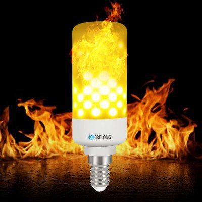 BRELONG LED Flame Light Bulb Emulation Flaming Decorative Lamp - E14