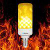 BRELONG LED Flame Light Bulb Emulation Flaming Decorative Lamp - E14 - WARM WHITE