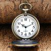 REEBONZ Steampunk Vintage H Quartz Pocket Watch Necklace Pendant - COPPER COLOR