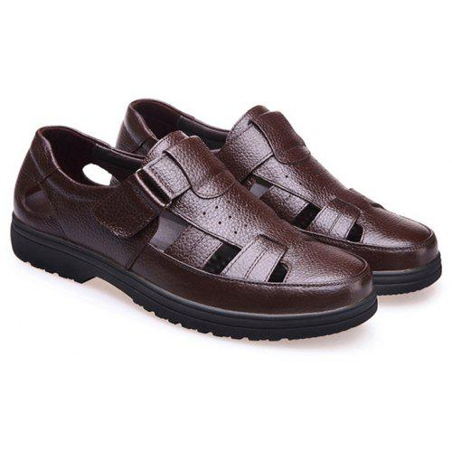 Man's Middle Men's The Sandals Old Leather For Aged Qdhrst