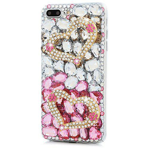36e405f684ca7 For iPhone 7 Plus/8 Plus Case 3D Handmade Crystal Shiny Diamonds Colorful  Gems Rhinestone Clear Case Full Edge Cover