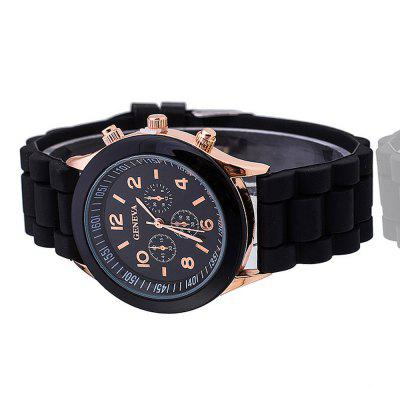 Fashion New Unisex Women Mens Boys Girls Geneva Silicone Jelly Sports Quartz Wrist Watch