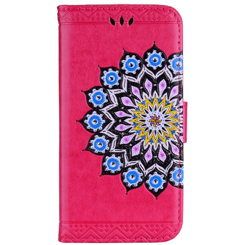 For Samsung Galaxy S8 Plus Glitter Mandala Flower Clamshell Protective Case