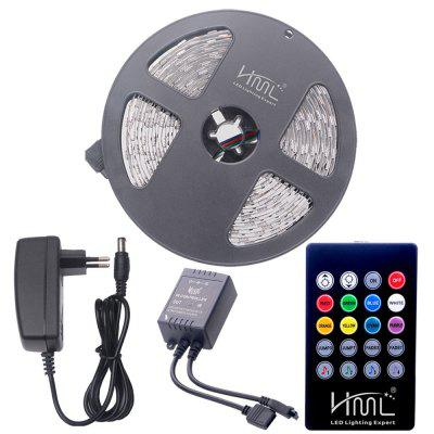 HML 5M 72W 5050 RGB LED Strip Light with 20 Keys Music Remote Control And EU Adapter