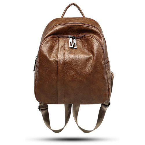 b529f3f5b2e New trendy casual soft leather lady bag travel backpack -  34.81 Free  Shipping GearBest.com