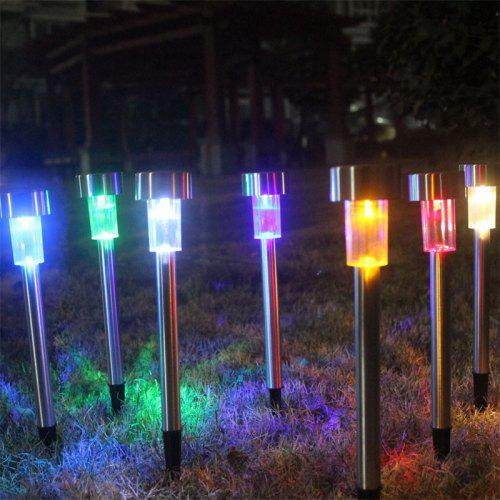 Jueja 5 Pcs Stainless Steel Solar Rgb Led Lawn Light Garden Landscape Lamp For Induction Outdoor Yard Deck Pathway
