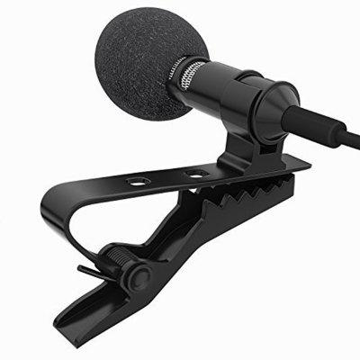 Miracle Sound Deluxe Lavalier Lapel Clip-on Omnidirectional Condenser Microphone