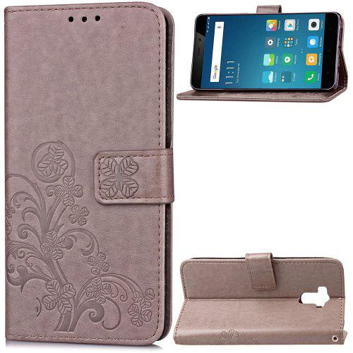 get cheap 19633 dd806 Leather Four Leaf Clover With Flip Wallet Case for Xiaomi Redmi 4 / 4 Pro