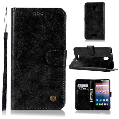 the latest 61f23 53850 Vintage Flip Leather Case PU Wallet Cover Cases For Alcatel Pop 4 Plus Case  Fierce 4 5056 / 5056D 5.5 Phone Bag with Stand