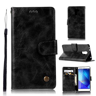 Flip Leather Case PU Wallet Cover Cases For Huawei Honor 7 Smart Cover Luxurious Vintage     Fashion Phone Bag with Stand