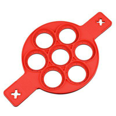 2017 new silicone Waffle Pancake baking mold egg mold Cake mold (Color: Red)