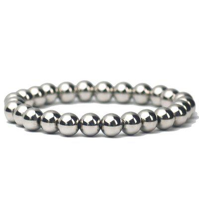 Round Soild Ball Chain Bracelete de elasticidade Jóias Bangle Mens Stainless Steel
