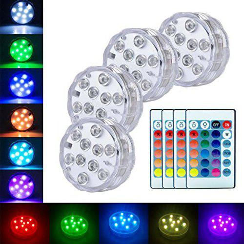 Submersible Led Lights Battery Powered Remote Controlled Rgb Light