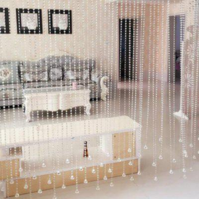 1M Home Decorative Beaded Delicate Artificial Crystal Windows Porch Partition Transparent Curtaindoor