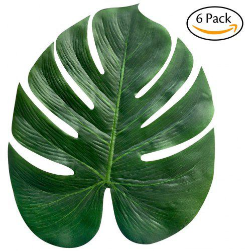 6pcs Artificial Tropical Leaf Plant Leaves Palm Fronds For Hawaiian Party Beach Theme Home Decorations