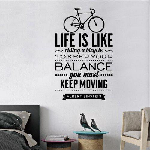 life is like bicycle spanish vinyl wall stickers spain language wall