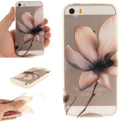 Cover Case for iPhone 5S/SE Magnolia Soft Clear IMD TPU Phone Casing Mobile Smartphone
