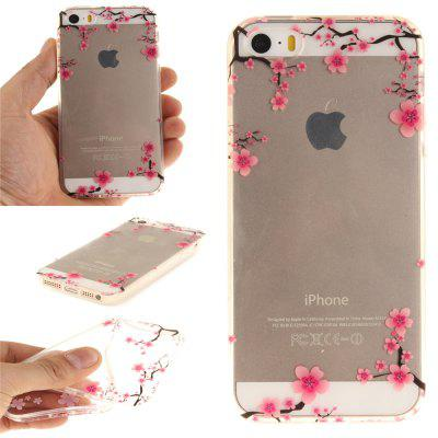Cover Case for iPhone 5S/SE Up and Down The Plum Blossom Soft Clear IMD TPU Phone Casing Mobile Smartphone for iphone 7 plus 5 5 inch tpu imd patterned gel cover almond tree in blossom
