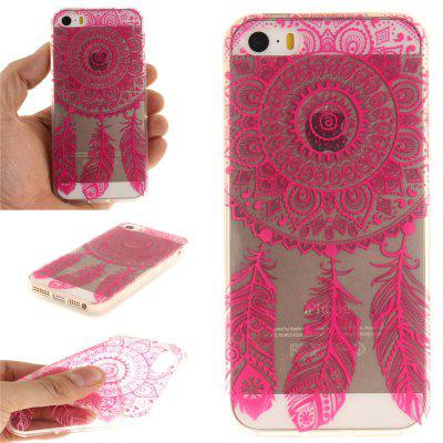 Cover Case for iPhone 5S/SE Rose Bell Soft Clear IMD TPU Phone Casing Mobile Smartphone soft imd tpu case cover for iphone 7 plus rose dream catcher