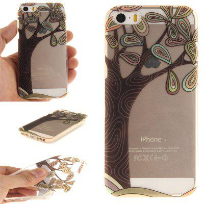 Cover Case for IPhone 5S/SE HAND Draw A Tree Soft Clear IMD TPU Phone Casing Mobile Smartphone for iphone 7 plus 5 5 inch tpu imd patterned gel cover almond tree in blossom