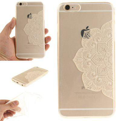 Cover Case for iPhone 6 Plus Half of White Flowers Soft Clear IMD TPU Phone Casing Mobile Smartphone soft imd tpu case cover for iphone 7 plus rose dream catcher