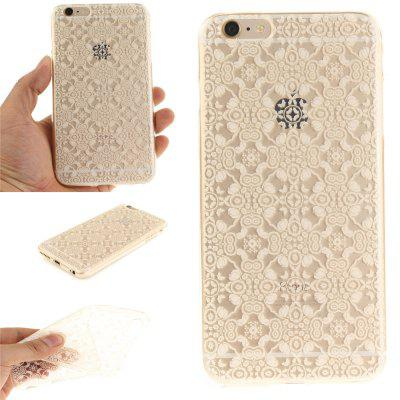 Cover Case for iPhone 6 Plus White Lace Soft Clear IMD TPU Phone Casing Mobile Smartphone imd patterned tpu gel cover for iphone 7 plus 5 5 inch tribal dream catcher