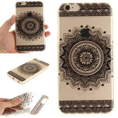 Фото Cover Case for iPhone 6 Plus Black Datura Soft Clear IMD TPU Phone Casing Mobile Smartphone gumai silky case for iphone 6 6s black