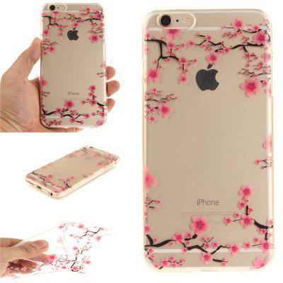 Cover Case for iPhone 6 Plus Up and Down The Plum Blossom Soft Clear IMD TPU Phone Casing Mobile Smartphone for iphone 7 plus 5 5 inch tpu imd patterned gel cover almond tree in blossom