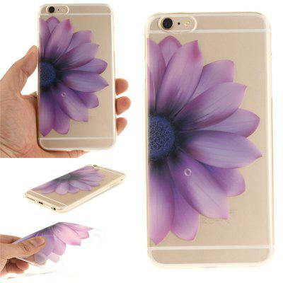 Cover Case for iPhone 6 Plus Half The Flower Soft Clear IMD TPU Phone Casing Mobile Smartphone imd patterned tpu gel cover for iphone 7 plus 5 5 inch tribal dream catcher