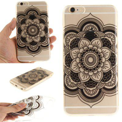 Фото Cover Case for iPhone 6 Plus Black sunflower Soft Clear IMD TPU Phone Casing Mobile Smartphone gumai silky case for iphone 6 6s black