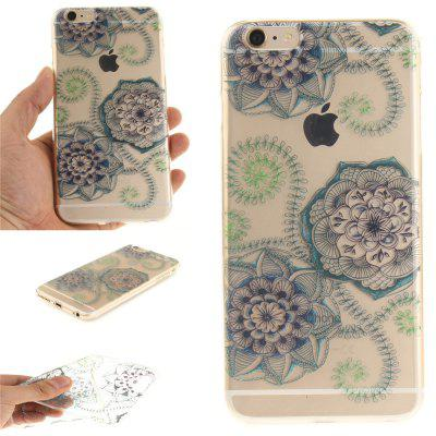 Cover Case for iPhone 6 Plus Blue green dream flower Soft Clear IMD TPU Phone Casing Mobile Smartphone soft imd tpu case cover for iphone 7 plus rose dream catcher