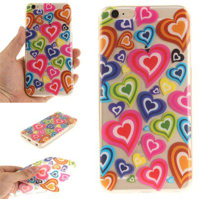 Cover Case for iPhone 6 Plus Color of Love Soft Clear IMD TPU Phone Casing Mobile Smartphone imd patterned tpu gel cover for iphone 7 plus 5 5 inch tribal dream catcher