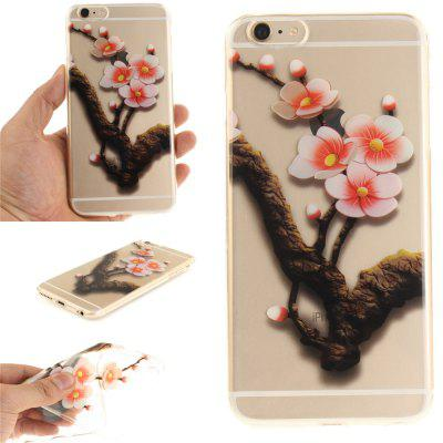 Cover Case for iPhone 6 Plus The Four Plum Flower Soft Clear IMD TPU Phone Casing Mobile Smartphone soft imd tpu case cover for iphone 7 plus rose dream catcher