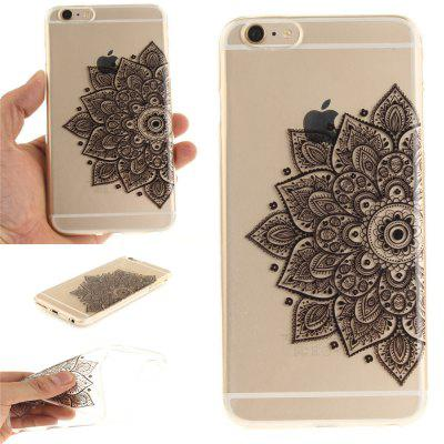 Фото Cover Case for iPhone 6 Plus Black Half Flower Soft Clear IMD TPU Phone Casing Mobile Smartphone gumai silky case for iphone 6 6s black