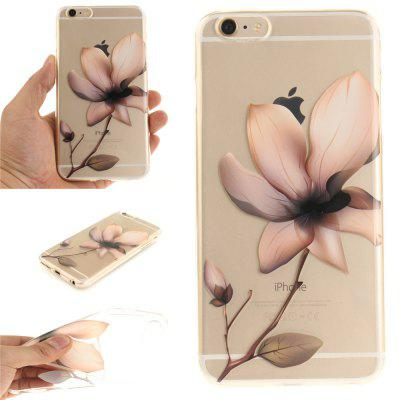Cover Case for iPhone 6 Plus Magnolia Soft Clear IMD TPU Phone Casing Mobile Smartphone soft imd tpu case cover for iphone 7 plus rose dream catcher
