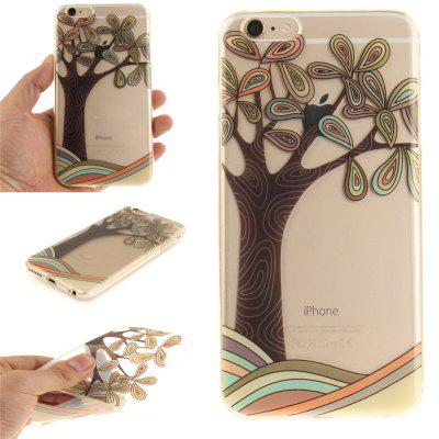 Cover Case for iPhone 6 Plus Hand Draw A Tree Soft Clear IMD TPU Phone Casing Mobile Smartphone for iphone 7 plus 5 5 inch tpu imd patterned gel cover almond tree in blossom