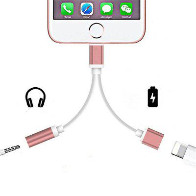 2 in 1 Audio Adapter 8 Pin 2 to 3.5mm Aux Headphone Jack for iphone 7 Plus / 7