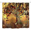 Elf Tree Polyester Shower Curtain Bathroom Curtain High Definition 3D Printing Water-Proof - COLORMIX
