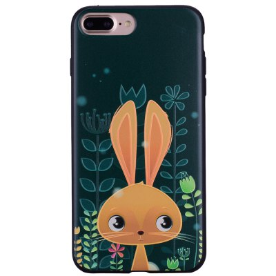 Case For Iphone 7plus Cute Rabbit TPU Mobile Phone Protection Shell 1pc office stationery planner agenda scheduler memo notebook cute molang rabbit calendar notepad for child gift