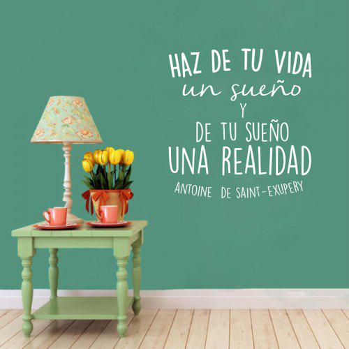 spanish inspirational positive quotes vinyl wall sticker make of