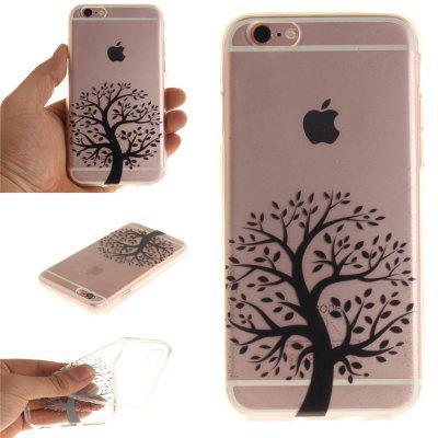 Cover Casefor The Round Black Tree Soft Clear IMD TPU Phone Casing Mobile Smartphone for iPhone 6/6S for iphone 7 plus 5 5 inch tpu imd patterned gel cover almond tree in blossom