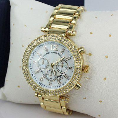 Luxury Fashion Women Rhinestone Rose Gold Quartz Watches