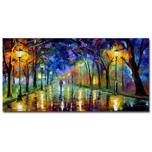 Hand Painted Abstract Palette Knife Landscape Oil Painting On Canvas Couples Wall Pictures Living Room Wall Decor