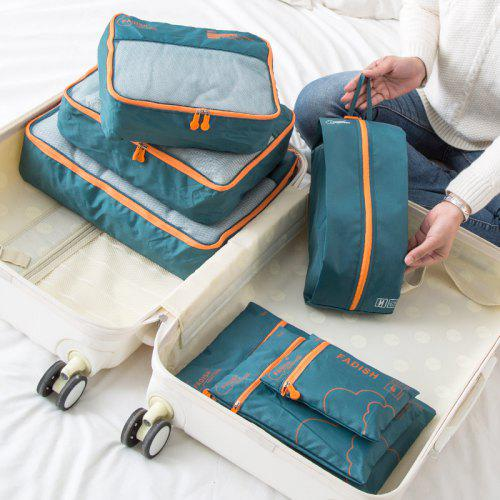 Waterproof Portable Travel Storage Bag Set With 7 Packages