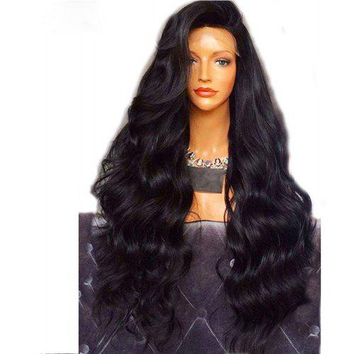 Brazilian Body Wave Human Hair Lace Front Wigs Bleached And Knots Black Color 18 20 22inch