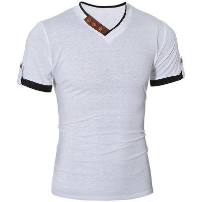 Men's Cotton Slim Short-Sleeved T-Shirt 7304