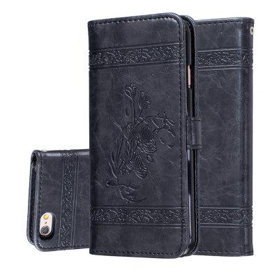 for Iphone6 Plus/6s Plus Case Cover Embossed Oil Wax Lines Phone Case Cover PU Leather Wallet Style Case icarer wallet genuine leather phone stand cover for iphone 6s plus 6 plus marsh camouflage
